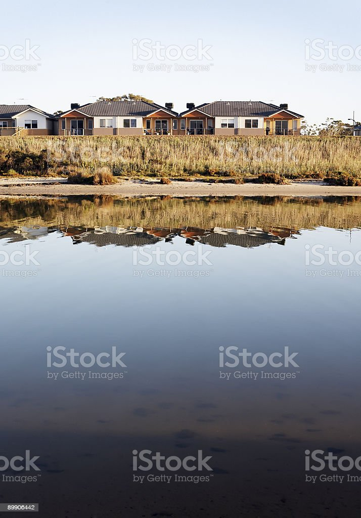 River front homes royalty-free stock photo