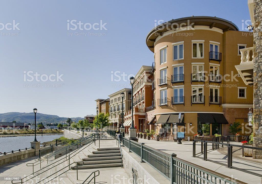 River Front, Napa, California stock photo