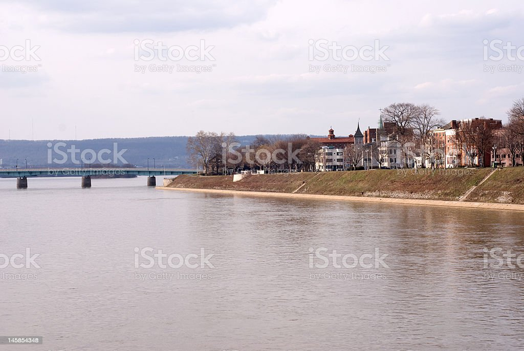 River front stock photo