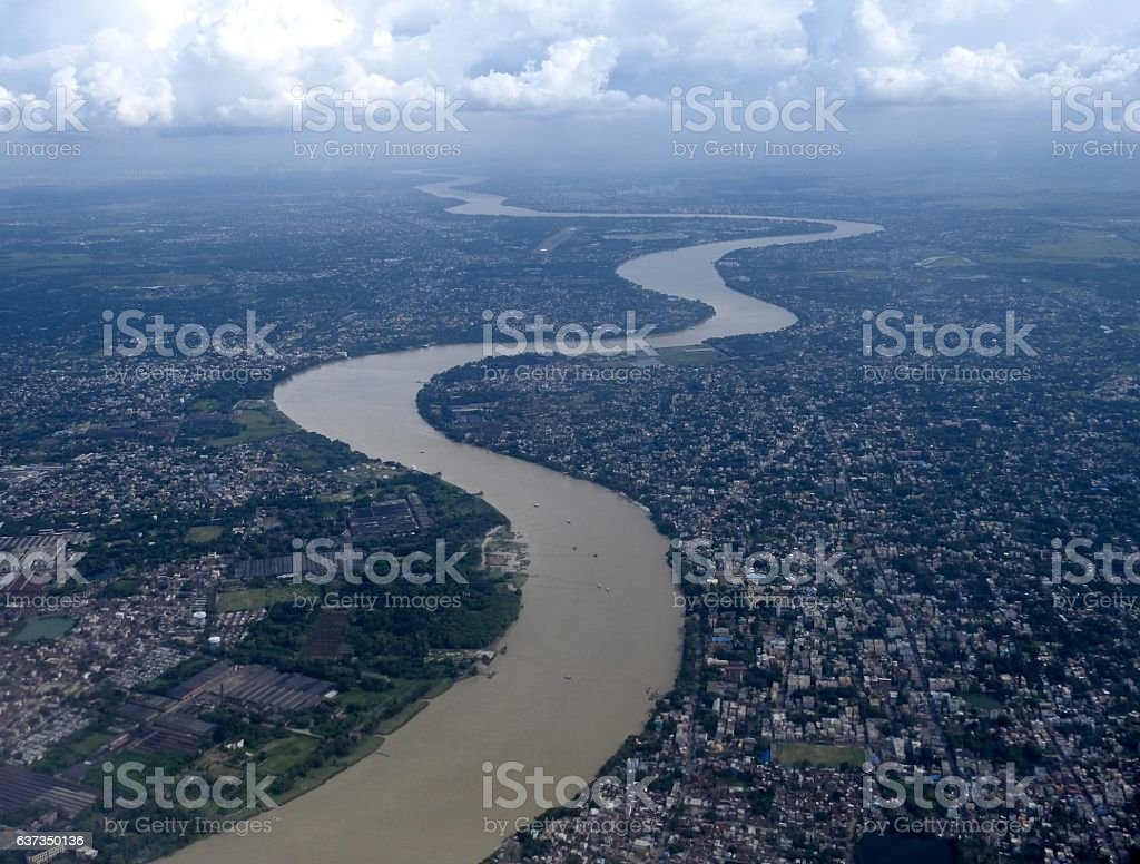 River Ganga at Kolkata stock photo