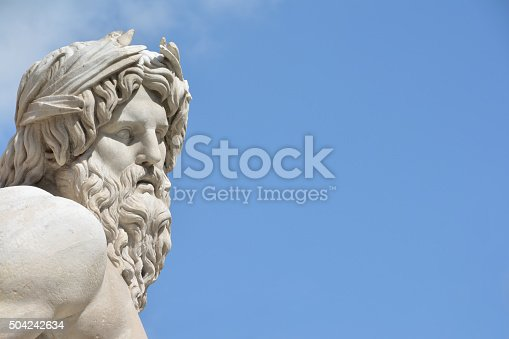 istock River Ganges statue as Greek God (with copy space) 504242634