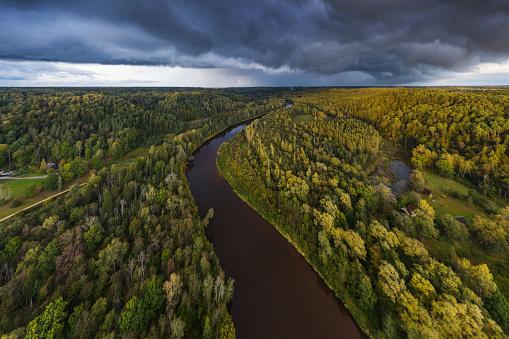 River Gauja next to Sigulda, Latvia