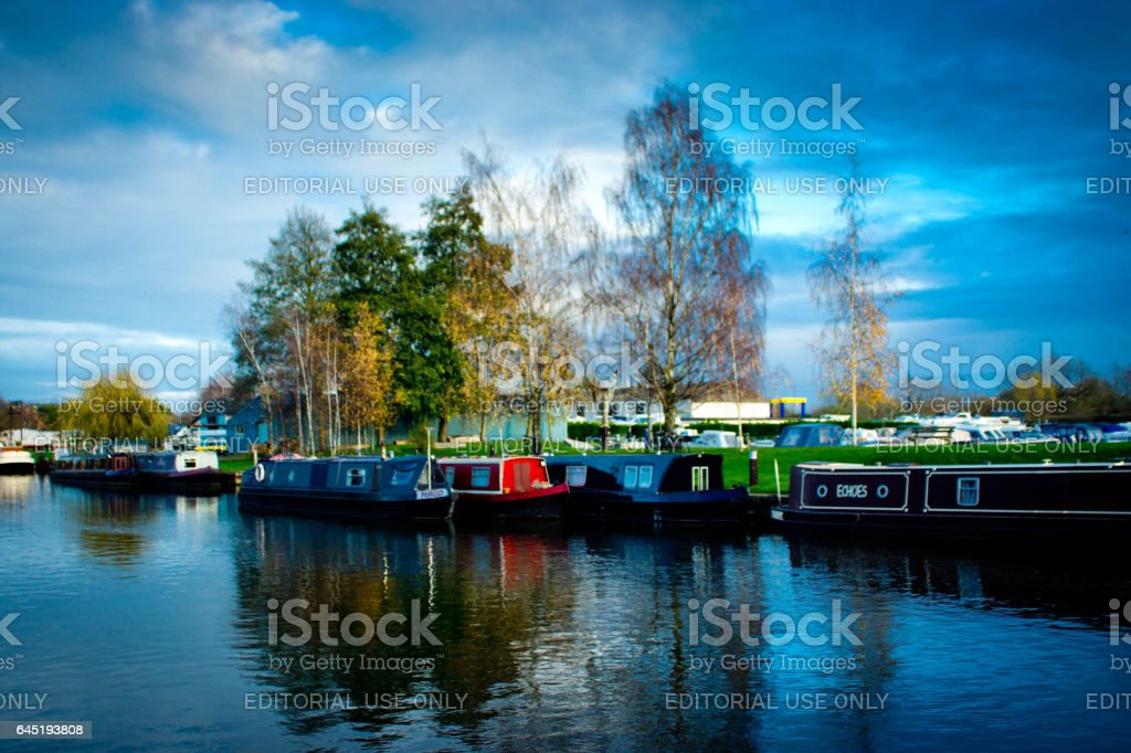 River Great Ouse at Ely stock photo