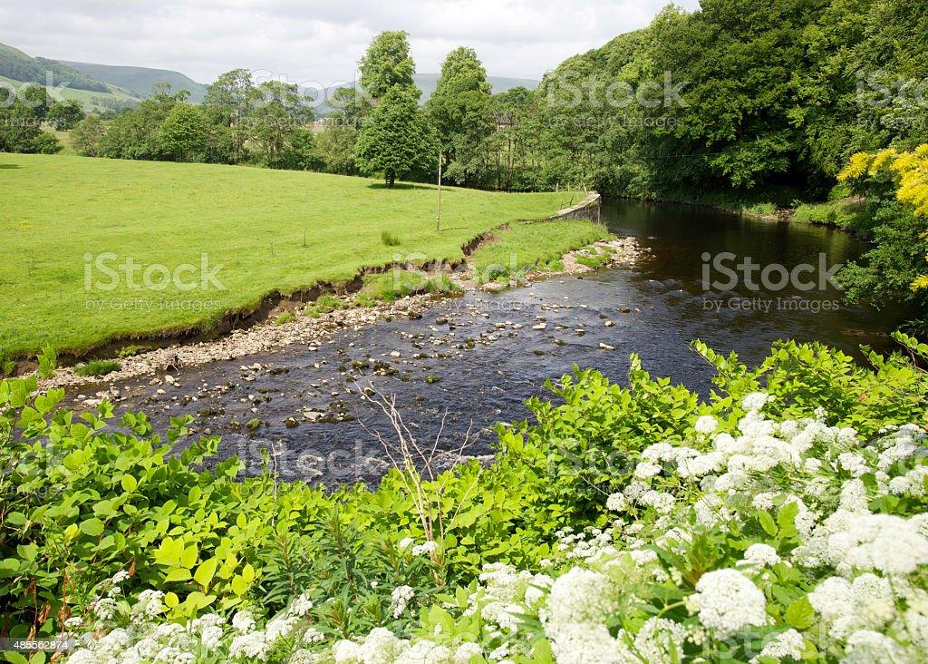 River Hodder stock photo