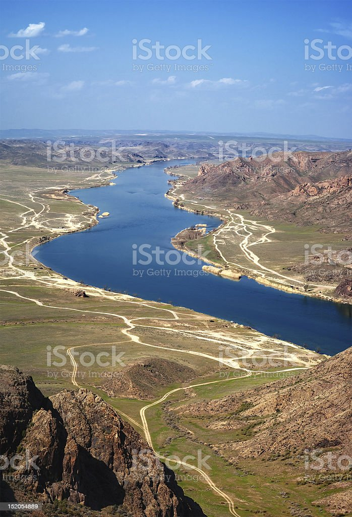 River Ili in Kazakhstan royalty-free stock photo