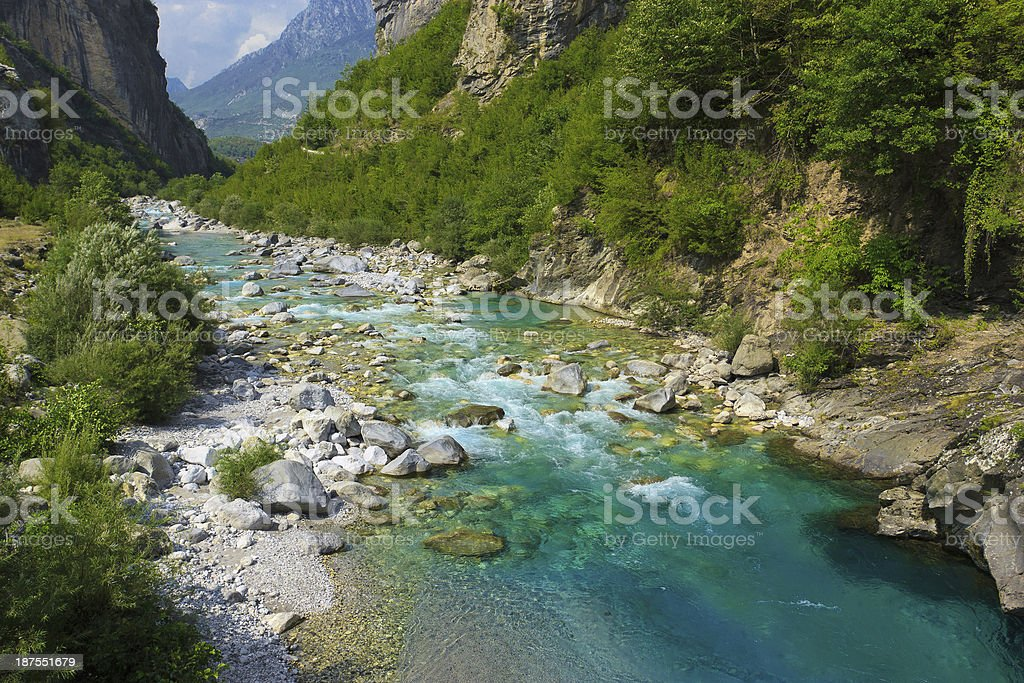 River in Alps royalty-free stock photo