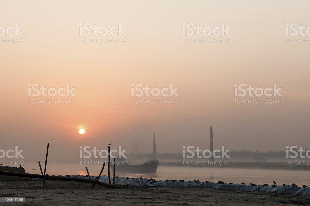 River in Bangladesh stock photo