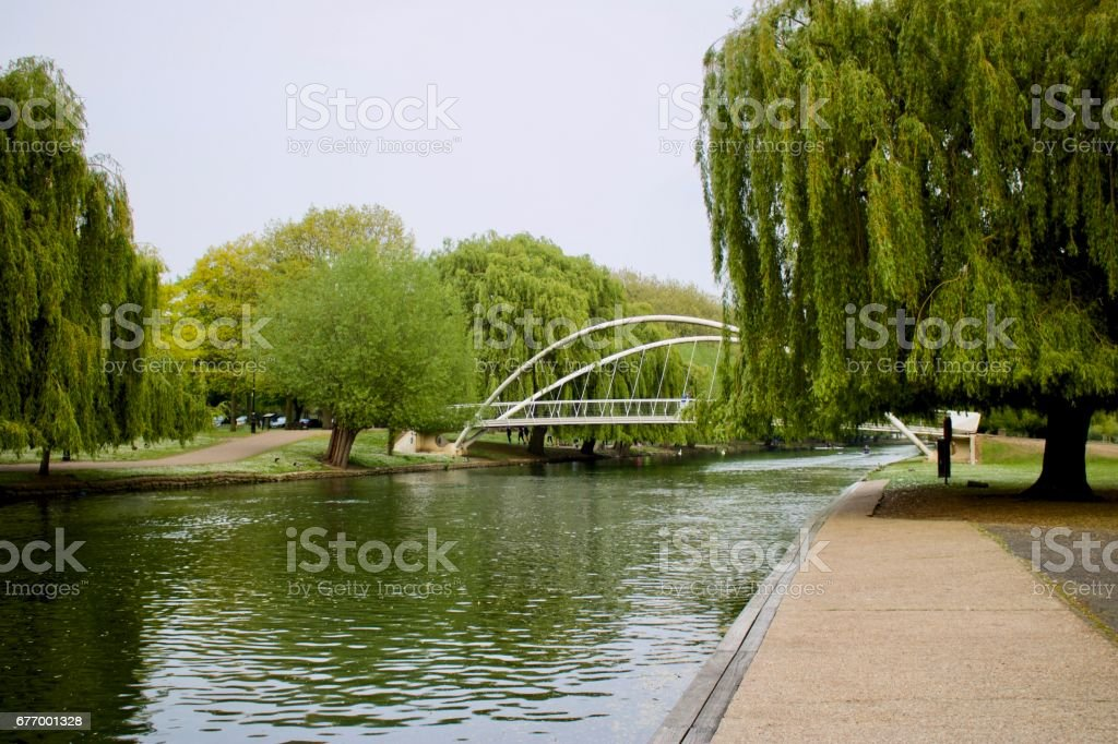 River in Bedford stock photo