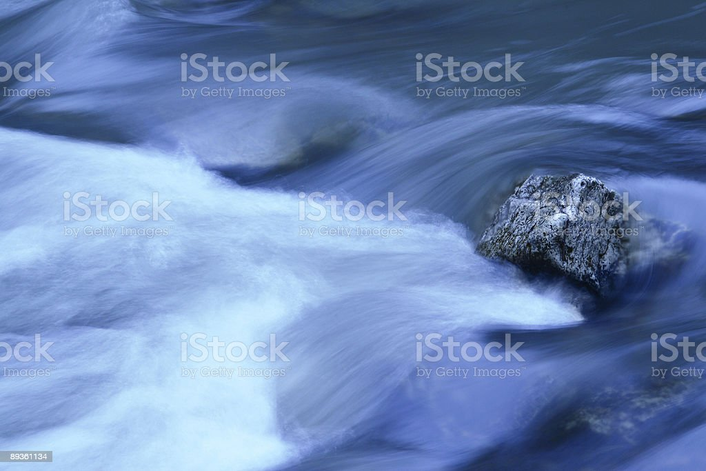 River In Blue royalty-free stock photo