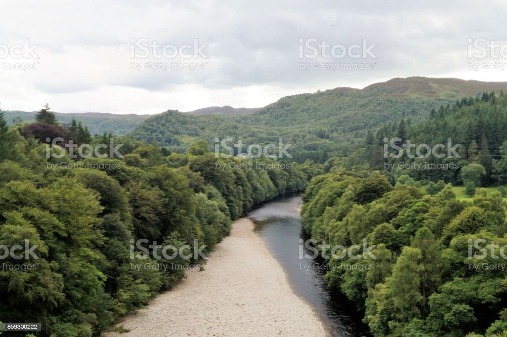 River in Cairngorms National Park, Scotland, UK, Europe stock photo
