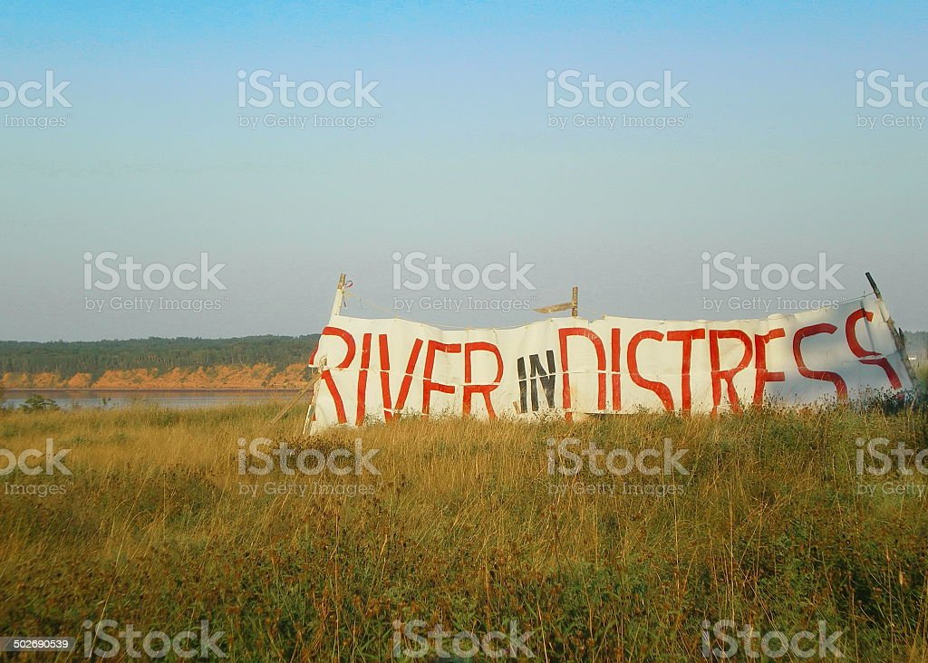 River in Distress stock photo