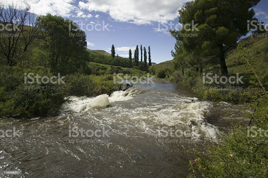River in flood royalty-free stock photo