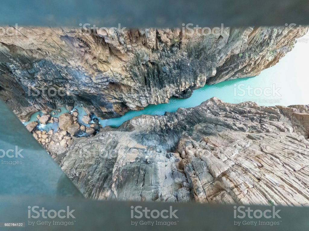 River in gorge of Caminito del Rey stock photo