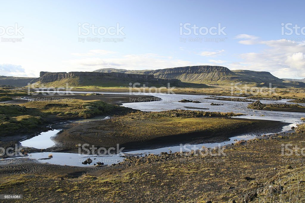 River in Iceland royalty-free stock photo