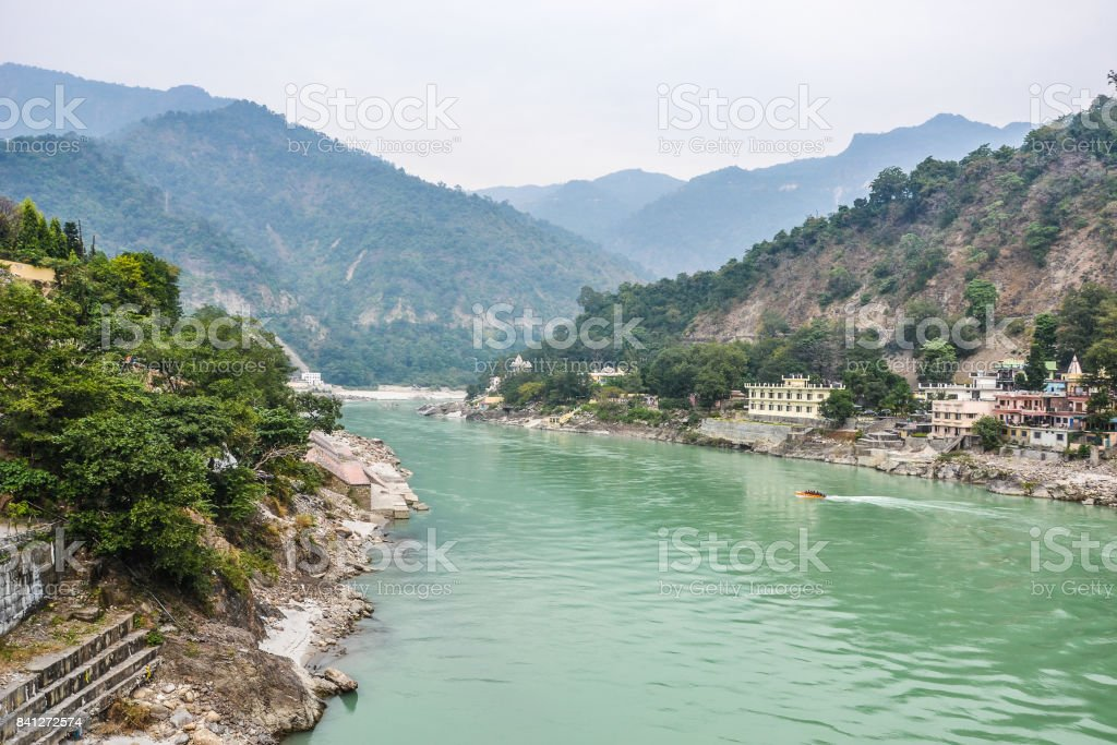 River in india stock photo