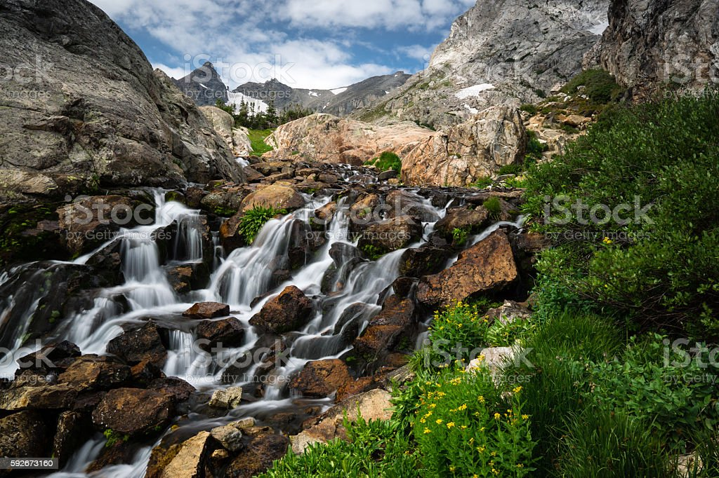 River in Indian Peaks Wilderness stock photo