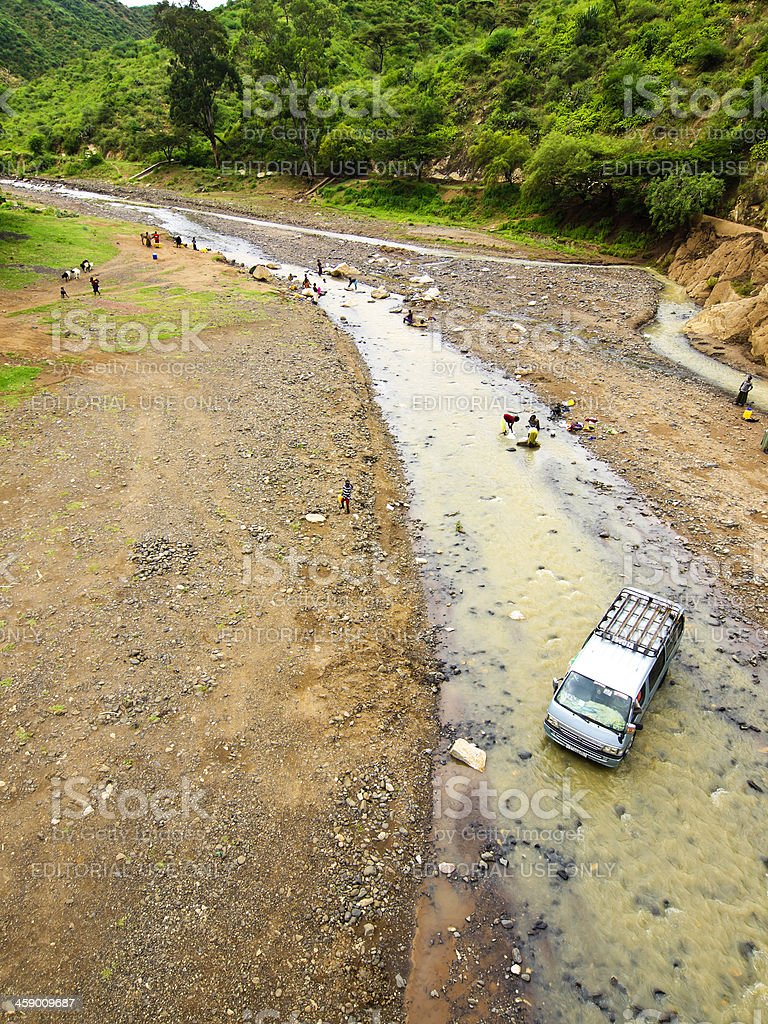 River in  Konso royalty-free stock photo