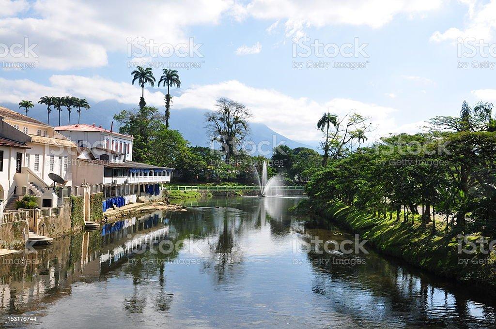 River in Morretes, Brazil stock photo