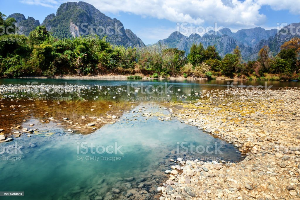 River in mountains, Laos royalty-free stock photo
