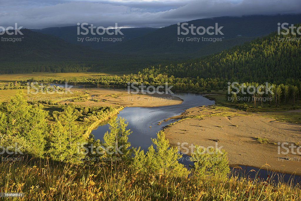 River in northern Mongolia royalty-free stock photo