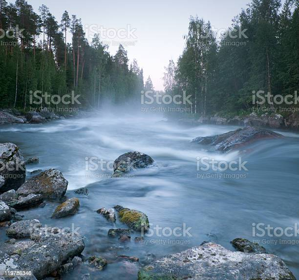 Photo of river in northern Russia