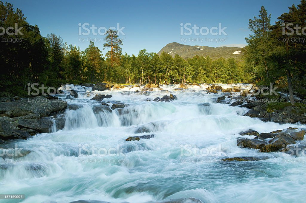 River in norway stock photo