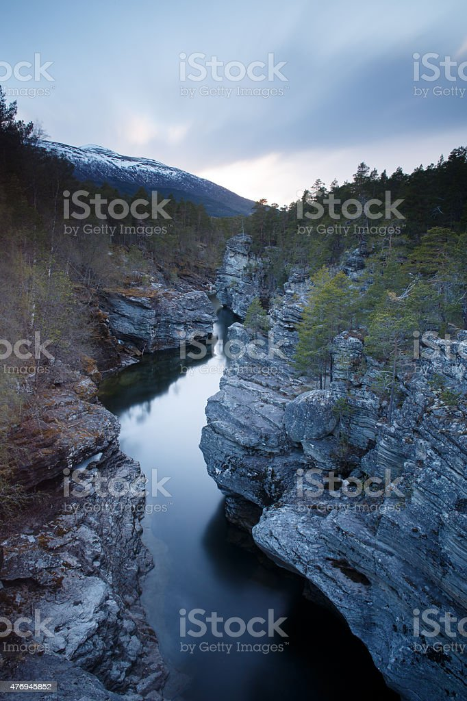 River in Oppdal, Norway stock photo