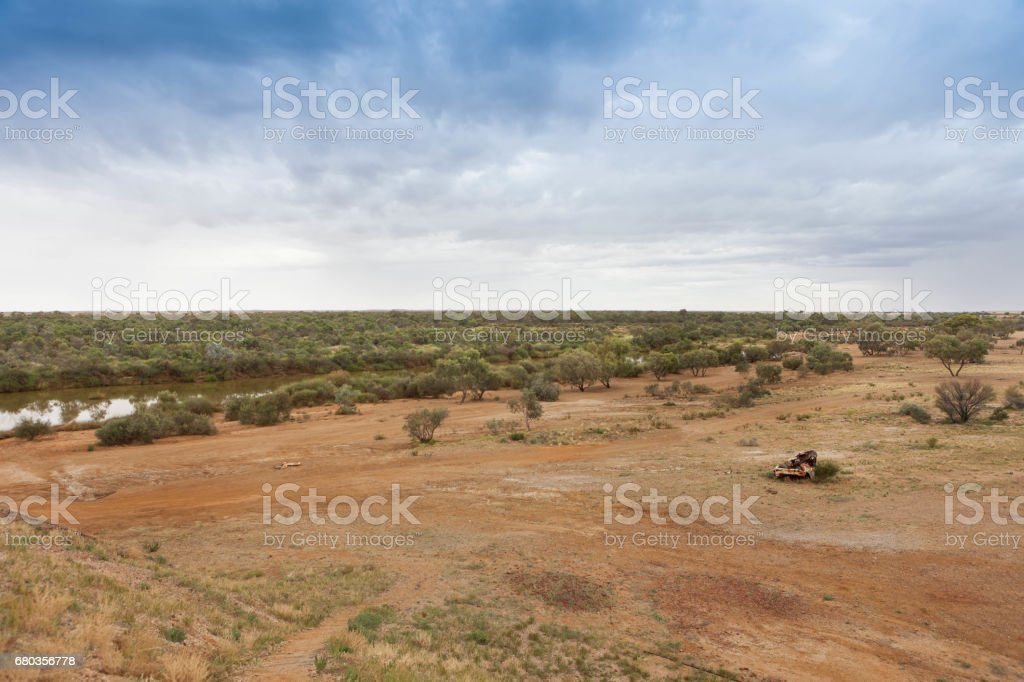 River in outback South Australia. royalty-free stock photo