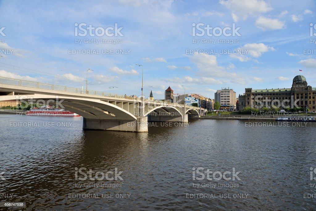 River in Prague stock photo