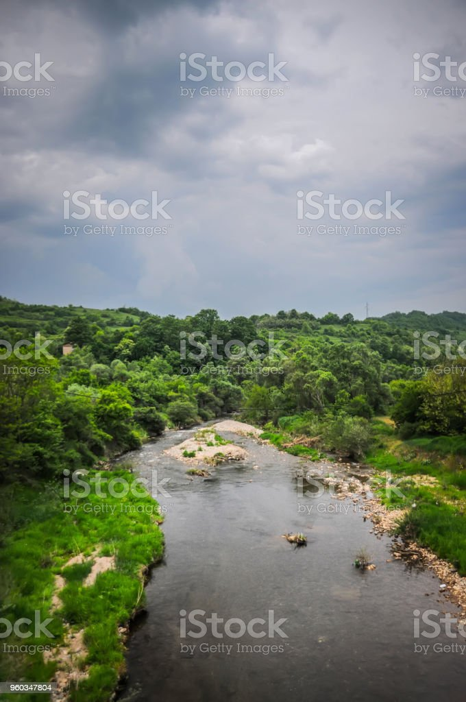 river in serbia stock photo