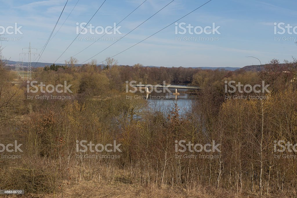 river in Spring royalty-free stock photo