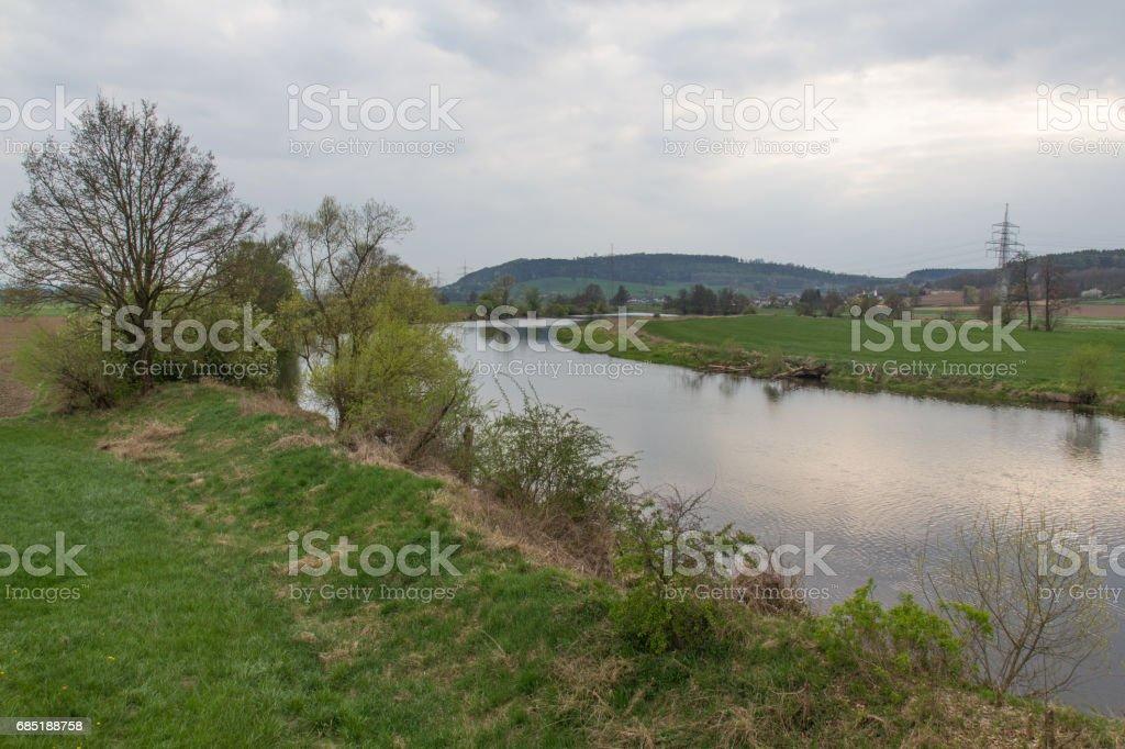 river in spring foto de stock libre de derechos