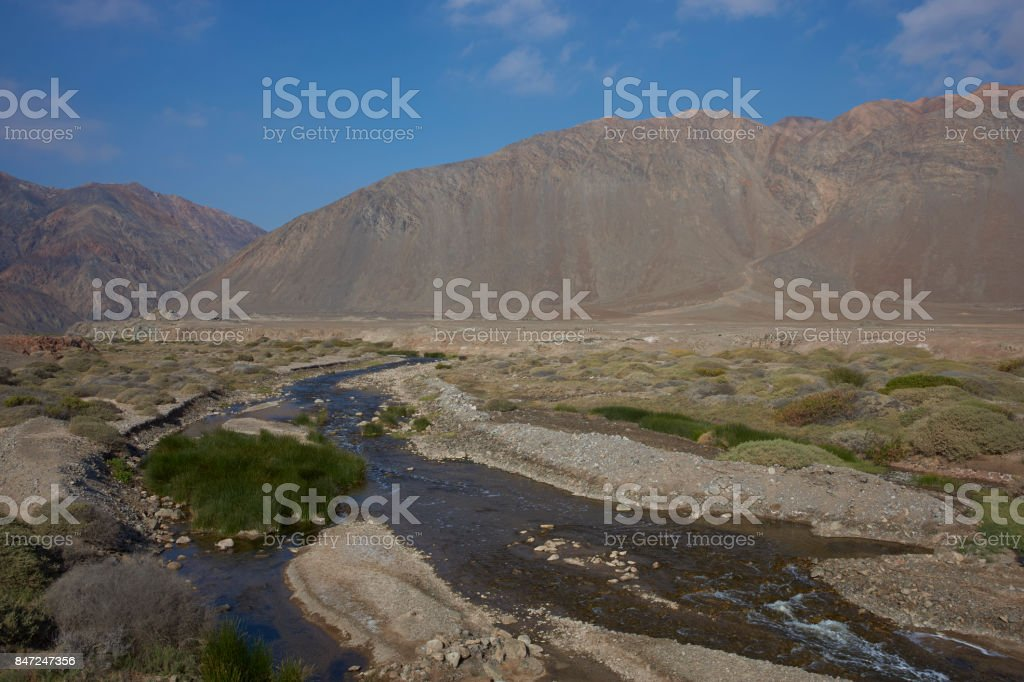 River in the Atacama Desert stock photo