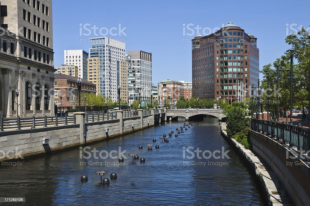 River in the City stock photo