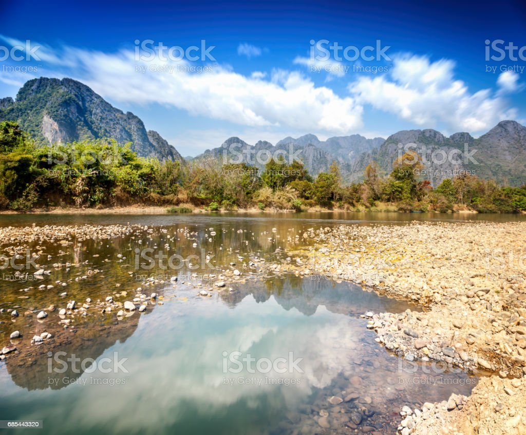 River in the mountains foto de stock royalty-free