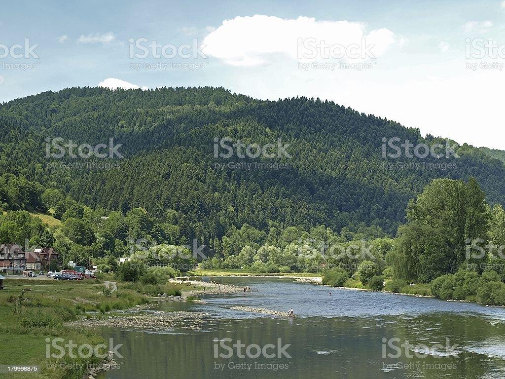 강 Pieniny moutains royalty-free 스톡 사진