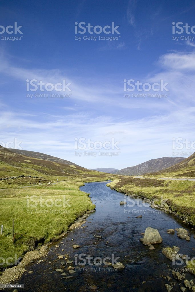 River in the scottish highlands royalty-free stock photo