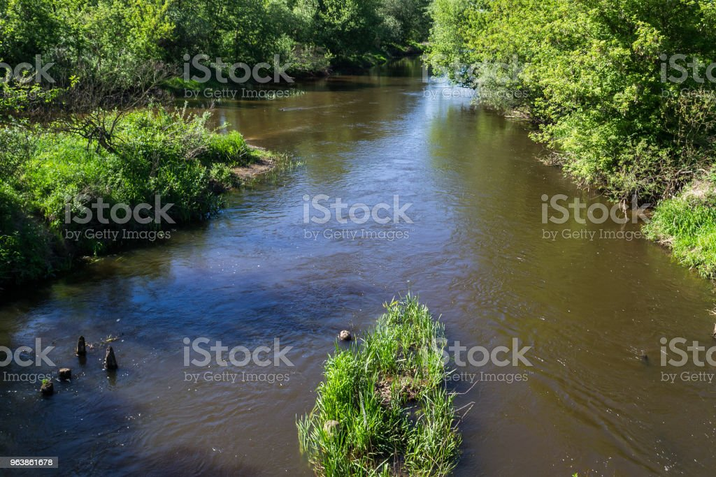 River in the spring sun - Royalty-free Enjoyment Stock Photo