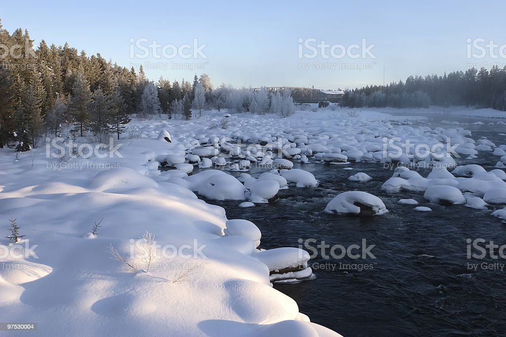 river in the winter royalty-free stock photo