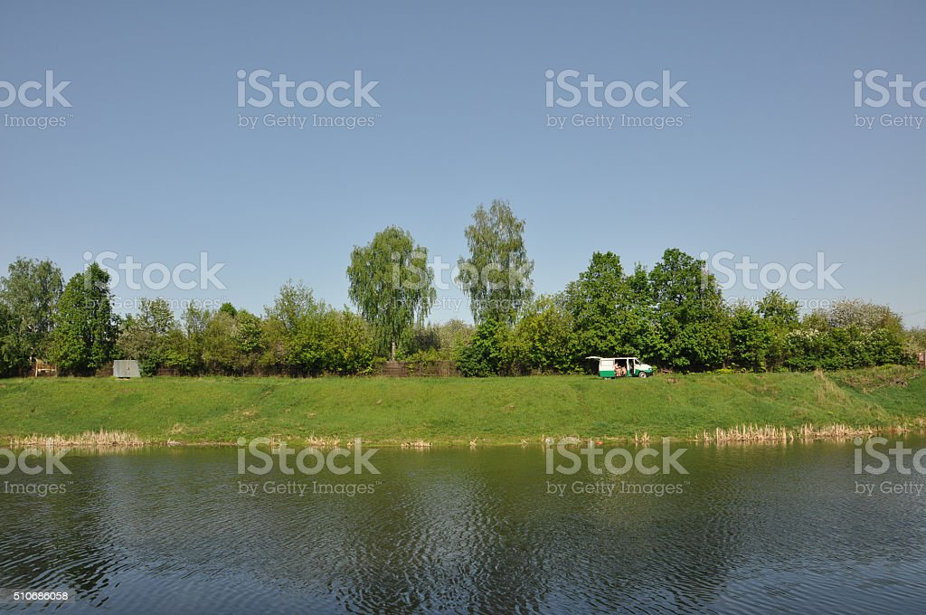 river in Tula stock photo