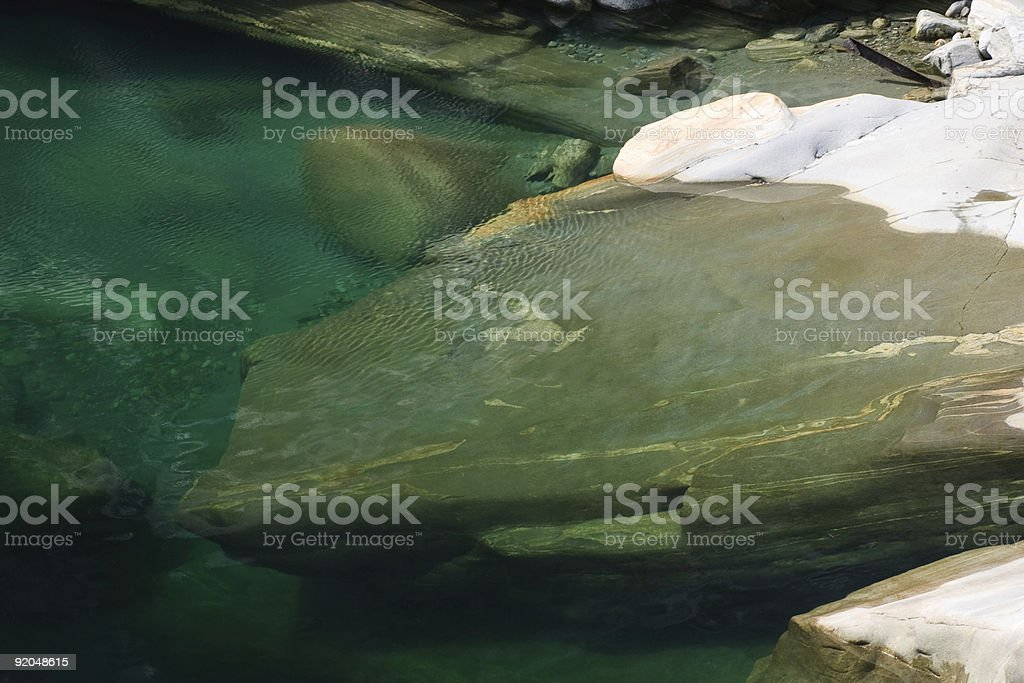 river in Valle di Maggia royalty-free stock photo