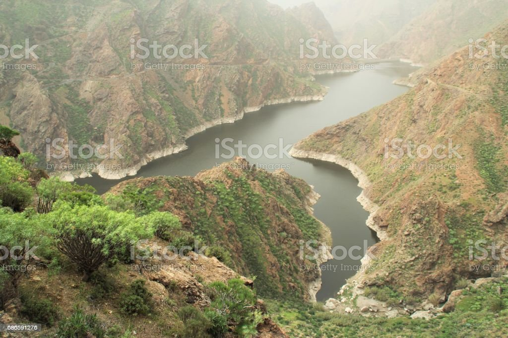 River in valley royalty-free stock photo
