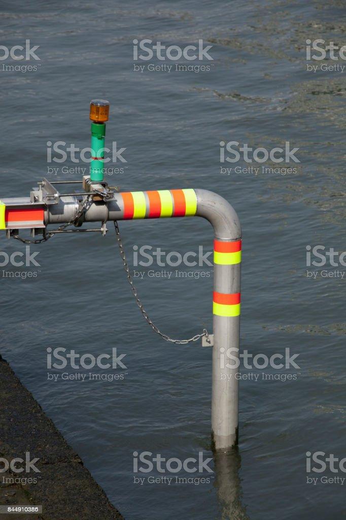 River intake pipe stock photo