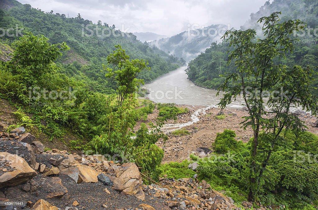 River Kameng, western Arunachal Pradesh, India. stock photo