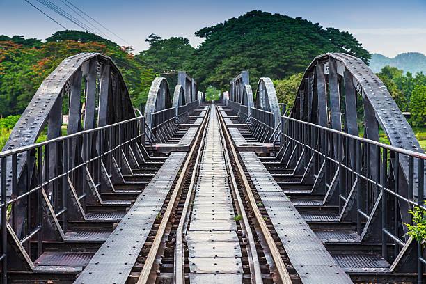 River Kawai Bridge, Kanchanaburi,Thailand stock photo