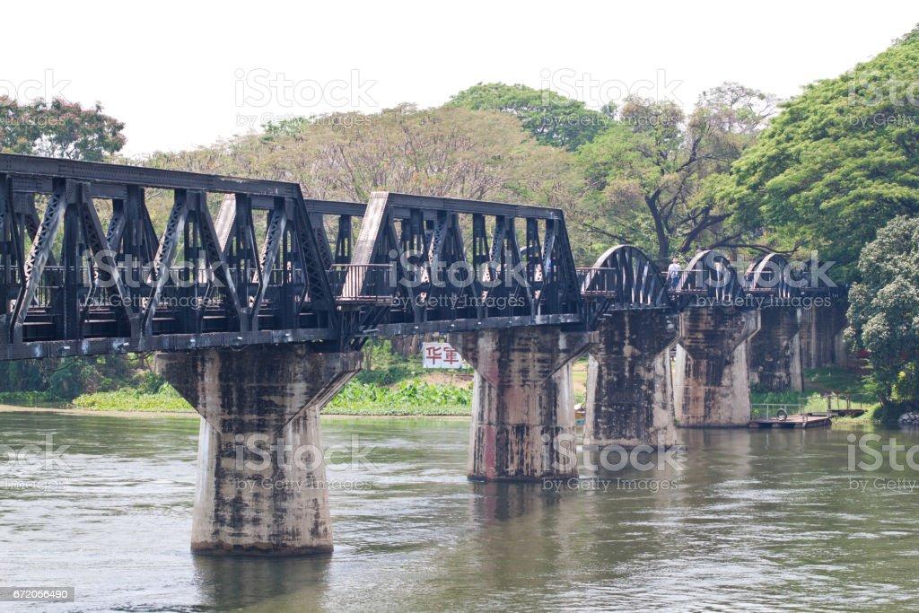River Kwai Bridge in Thailand stock photo