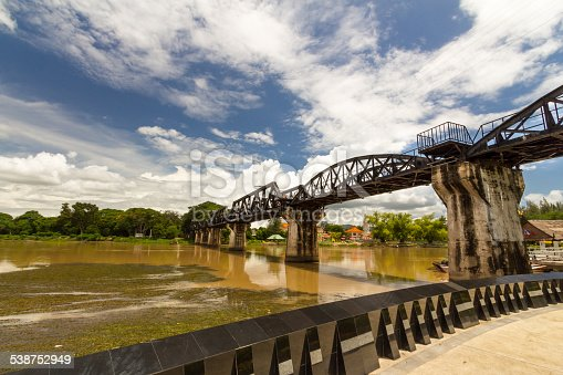 River Kwai Bridge, Kanchanaburi, Thailand.