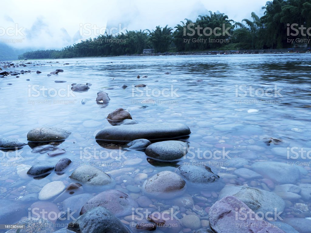 River landscape in the morning stock photo