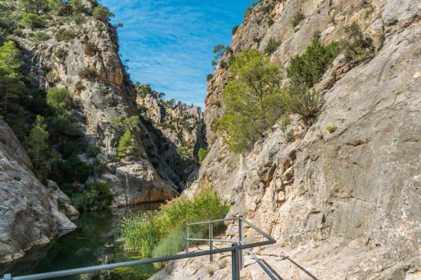 Flusslandschaft Heiligtum von La Fontcalda, Katalonien, Tarragona, Spanien – Foto