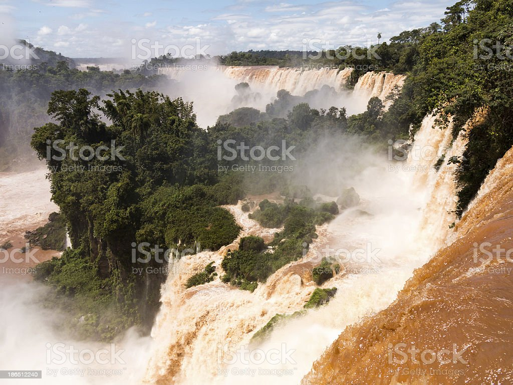 River leading to Iguassu Falls royalty-free stock photo